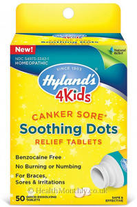 Hyland's Homoeopathic Medicine 4 Kids Canker Sore Soothing Dots