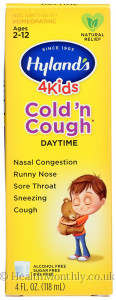 Hyland's Homoeopathic Medicine 4 Kids Cold 'n Cough Daytime