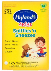 Hyland's Homoeopathic Medicine 4 Kids Sniffles 'n Sneezes
