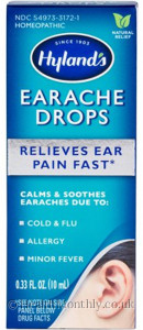 Hyland's Homoeopathic Medicine Earache Drops