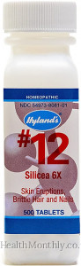 Hyland's Homoeopathic Medicine #12 Silicea 6X Cell Salts