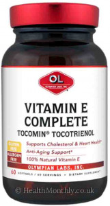 Olympian Labs Vitamin E Complete Tocomin Tocotrienol