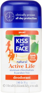 Kiss My Face Natural Active Life Sport Deodorant