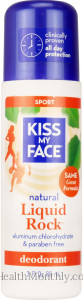Kiss My Face Natural Liquid Rock Sport Roll On Deodorant