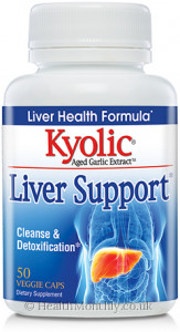 Kyolic® Liver Support, includes Aged Garlic, Milk Thistle & Picrorhiza Kurroa & Amia Fruit Extracts