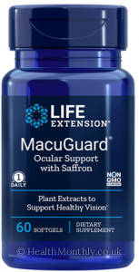 Life Extension MacuGuard Ocular Support with Saffron