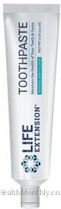 Life Extension Toothpaste, Natural Mint Flavor