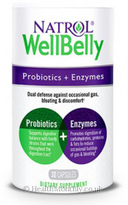 Natrol WellBelly Probiotics + Enzymes
