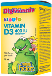Natural Factors Big Friends Liquid Vitamin D3