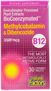 Natural Factors BioCoenzymated Methylcobalamin & Dibencozide