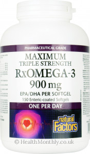 Natural Factors Maximum Triple Strength RxOmega-3