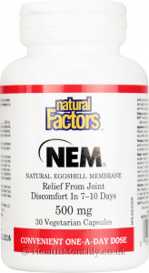 Natural Factors NEM Natural Eggshell Membrane