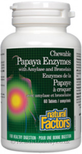 Natural Factors Papaya Enzymes with Amylase and Bromelain