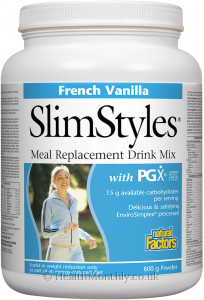Natural Factors SlimStyles Meal Replacement Drink Mix