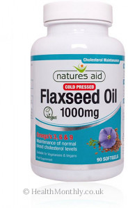 Natures Aid Cold Pressed Flaxseed Oil