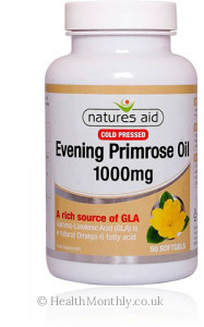 Natures Aid Evening Primrose Oil, Cold Pressed