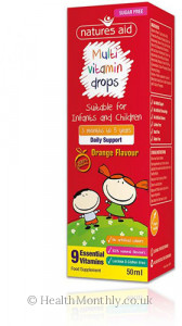 Natures Aid Multi Vitamin Drops for Infants & Children