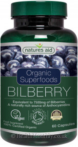 Natures Aid Organic Bilberry
