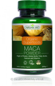 Natures Aid Organic Superfoods Maca Powder