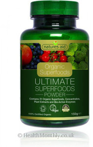 Natures Aid Organic Superfoods Ultimate Superfoods Powder