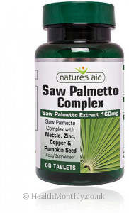 Natures Aid Saw Palmetto Complex with Nettle, Zinc & Amino Acids