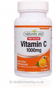 Natures Aid Vitamin C 1000 mg Time Release, with Citrus Bioflavonoids