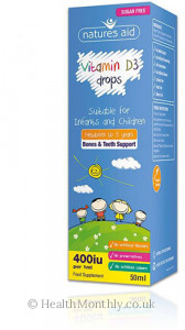 Natures Aid Vitamin D3 Drops for Infants & Children