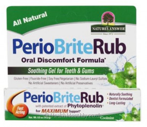 Nature's Answer PerioBriteRub Soothing Gel