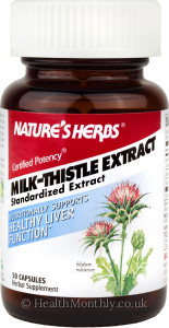 Natures Herbs Milk Thistle Extract Standardised Extract