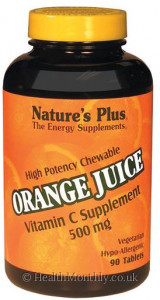 Nature's Plus Orange Juice Chewable Vitamin C