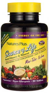 Nature's Plus Source Of lIfe Multi Vitamin and Mineral