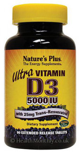 Nature's Plus Ultra Vitamin D3 with Trans-Resveratrol