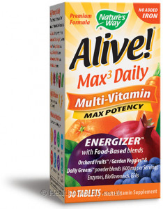 Nature's Way Alive! Max3 Daily Multi-Vitamin No Added Iron