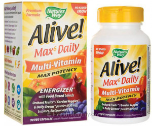 Nature's Way Alive! Max6 Daily Multi-Vitamin, Energizer