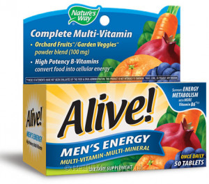Nature's Way Alive! Men's Energy Multi-Vitamin-Multi-Mineral
