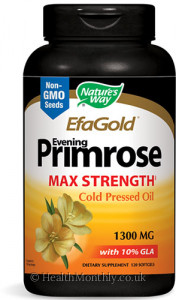 Nature's Way EFAGold Evening Primrose Max Strength Cold Pressed Oil