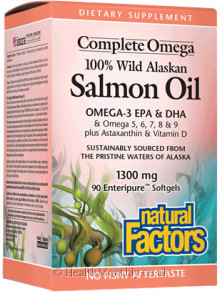 Natural Factors Complete Omega 100% Wild Alaskan Salmon Oil