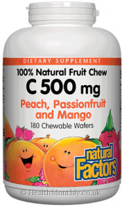 Natural Factors 100% Natural Fruit Chew C