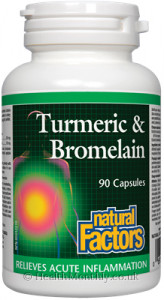 Natural Factors Turmeric & Bromelain