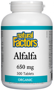 Natural Factors Organic Alfalfa