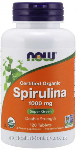 Now® Certified Organic Spirulina, Double Strength