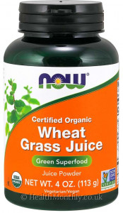 Now® Certified Organic Wheat Grass Juice Powder