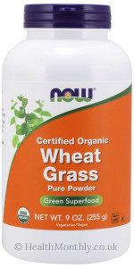 Now® Certified Organic Wheat Grass Pure Powder