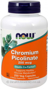 Now® Chromium Picolinate, Insulin Co-Factor