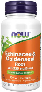 Now® Echinacea & Goldenseal Root