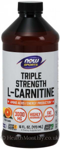 Now® L-Carnitine, Triple Strength Liquid