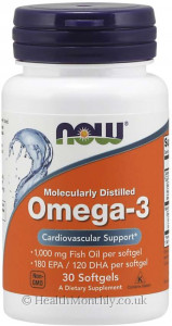 Now® Omega-3, Molecularly Distilled