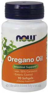 Now® Oregano Oil, min 55%  Carvacrol