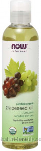 Now® Solutions, Certified Organic Grapeseed Oil