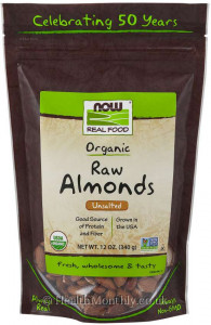 Now® Real Food, Organic Raw Almonds